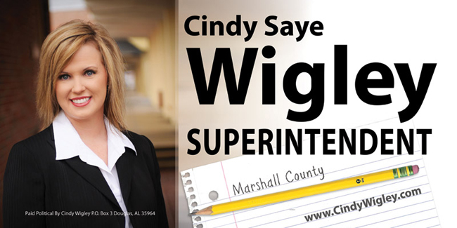 Cindy Wigley's Sign