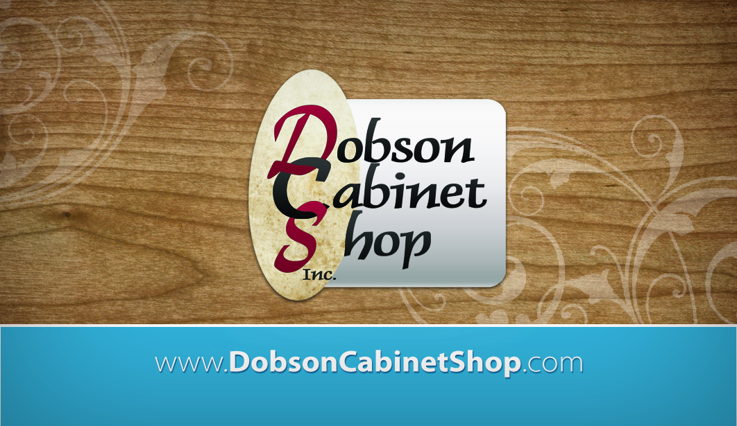Back of Dobson Cabinets' business card